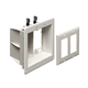 Arlington 2-Gang Recessed Box for Power and Low Voltage (TVBU505)