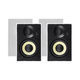 Monoprice Caliber Slim Bezel In-Wall Speakers, 6.5in Fiber 2-Way (pair)