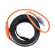12ft 84 Watts Electric Water Pipe Heater Black Cable connected to a 2ft 18/3 SJTW Orange Power Supply Cord