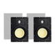 Monoprice Caliber Snap Lock In-Wall Speakers, 8in Fiber 2-Way (pair)