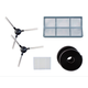 Robotic Vacuum Accessory Kit: Primary Filter, HEPA Filter, 2 Side Brushes, 2 Magentic Strips for 16385