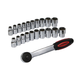 Monoprice 21-piece 1/2in Drive Socket Wrench Set (Open Box)