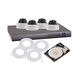 Monoprice 720p 4-Camera Network Video Recorder with IP66 Waterproof Cameras, Black (Open Box)