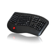 Adesso Tru-Form 3500 - 2.4GHz Wireless Ergonomic Trackball Keyboard - Wireless Connectivity - RF - USB Interface - 105 Key - English (US) - Trackball - Next Track, Previous Track, Refresh, Search, For