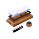 Premium Knife Sharpening Stone, 1000/6000 Grits Double-Sided Whetstone with Non-Slip Bamboo + Rubber Base, Waterstone - HSS1A