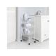 "Mainstays 4-tier Wire Rolling Cart storage kitchen Mobile Utility Cart Organizer White 10"" x 15"" x 34"" rack"