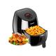 AIGEREK Air Fryer, Touch Screen Digital Air Fryer & Insulated Basket Handle Black 3.7QT Ark200BE