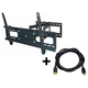 Monoprice Full-Motion Articulating TV Wall Mount Bracket - For TVs 37in to 70in, Max Weight 132lbs (Open Box)