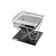 Pure Outdoor by Monoprice Stainless Steel Folding Charcoal Grill