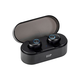 Monoprice True Wireless Plus Earphones with Wireless Charging Case, IPX5 Nano Waterproof Coating, Sweatproof, Bluetooth 5 with aptX, AAC, Mic, cVc 8.0, 8 Hour Playtime with Auto On/Off