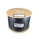 Syston 1000ft RG-11/U 3.0 GHz (14AWG) Broadband CATVR/CL2R/CMP Bulk Coax Cable Spool, Black