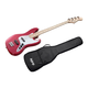 Monoprice Indio Jamm Bass with Gig Bag, Wine Red (Open Box)