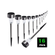 Solar Powered Lights Outdoor- Bright White -Waterproof Landscape walkway driveway stainless steel (16 pack)