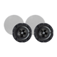 Monoprice Alpha In-Ceiling Speakers 6.5in Carbon Fiber 2-Way with 15° Angled Drivers (pair) (Open Box)