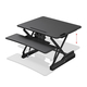 Workstream by Monoprice Full-Size Sit-Stand Workstation Converter, Height Adjustable Desk 30in (Open Box)