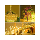 33ft 100LED String Lights Battery Operated Dimmable w/Remote Control Waterproof Timer Warm White
