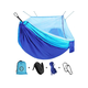 Camping Hammock with Net Mosquito, Parachute Fabric Hammock Portable Nylon for Backpacking Camping Travel Blue
