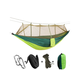 Camping Hammock with Mosquito Net, Single & Double Hammock Bug Net, Lightweight Nylon Portable Green