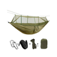 Camping Hammock with Mosquito Net, Single & Double Hammock Bug Net, Lightweight Nylon Portable Hammock Army Green