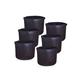 Plant Grow Bags Potato/Vegetable/Non-Woven Aeration Fabric Pots Handles (Black) (20-Gallon 6-Pack)