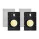 Monoprice Caliber Snap Lock In-Wall Speakers, 6.5in Fiber 2-Way (pair) (open box)