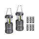 Led Lantern GYMAN Camping Lantern (2 Pack Collapsible) with 6 AA Batteries Ultra Bright Magnetic Base Camping Gear Survival Kit