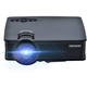 Cozyswan GP9 Projector,  Support 1080P HDMI 1500 Luminous LCD Mini Projector for Outdoor Indoor Movie, Home Theater