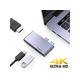 USB C Hub, Aluminum 3 in 1 USB C Hub Adapter HDMI 4K Thunderbolt 3 USB 3.0 Port Mini Type C MacBook Pro MacBook Air (Space Grey)