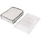 1 x Large Fabric Storage Box Tote Soft Case Bag Plus 3 x Medium Flat Vacuum Storage Bag Seal Compress Space Saver Bag