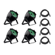 Stage Right by Monoprice Wash Hex 18x 18-watt + Zoom LED Par Wash Light 4-pack wit DMX Cables