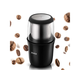 Electric Coffee Grinder Portable Coffee Grinde with Stainless Steel Blade Removable Coffee Powder Bowl Up to 12 Cups