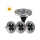 MAGGIFT Solar Ground Lights,Garden Pathway Outdoor In-Ground Lights With 4 LED (4 pack) (Cool White)