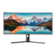 Monoprice 34in CrystalPro Curved Ultra-Wide Monitor - 1500R, 21:9, 2560x1080p, UWFHD, 75Hz (100Hz OC), AMD FreeSync, Height Adjustable Stand, VA