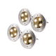 MAGGIFT Solar Ground Lights,Garden Pathway Outdoor In-Ground Lights With 4 LED (4 pack) (warm White)