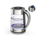 RinKmo Electric Kettle(BPA-Free),Fast Boiling Glass Tea Kettle (1.8L),Kitchen Kettle Pot for Tea Coffee with Blue Led,Auto Shut-Off