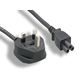 Monoprice Power Cord - BS 1363 (UK) to IEC 60320 C5, 18AWG, 5A, 250V, 3-Prong with Fuse, Black, 6ft