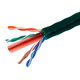 Monoprice Cat6 Ethernet Bulk Cable - Solid, 550MHz, UTP, CMR, Riser Rated, Pure Bare Copper Wire, 23AWG, No Logo, 1000ft, Green (UL)