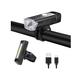 Anti-Glare Bike Light Set USB Rechargeable, Waterproof Bicycle Front Light Headlight & Rear Back Tail Lights,4 Modes LED Bike Lights Front and Back,Easy Install COB Taillight Flashlight