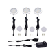 Under Cabinet LED Lights Kit 3 Packs Slim Aluminum Puck Lights with Switch 12Vdc 6W All Accessories Included (6W Warm White)