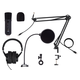 Stage Right by Monoprice Complete Podcasting and Streaming Bundle with USB Microphone, Headphones, Boom Stand, and Accessories