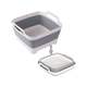 Collapsible Plastic Laundry Basket Foldable Pop Up Storage Washing Tub - Space Saving Hamper/Basket indoor outdoor Gray
