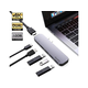 PureFix 6 in 1 Premium Dual HDMI USB C Hub Adapter for MacBook Pro 2017 2018 2019 MacBook Air 2018 2019 Ultra Silm (Space Gray)