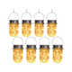 Solar Mason Jar Lights,8 Pack 30 Led Hanging String Fairy Jar Solar Lantern Lights for Outdoor Patio Garden Yard and Lawn Decoration