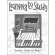 Learning to Study Book F Teacher Guide