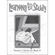 Learning to Study Book H Teacher Guide
