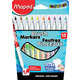 Color'Peps Brush Felt Tip Brush Markers (10 Assorted Colors)