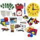 Math in Focus Manipulative Kit Grade 2 with Teaching Clock Upgrade
