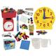 Math in Focus Manipulative Kit Grade 3 with Teaching Clock Upgrade