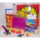 Manipulative Kit K-3 (Plastic Pattern Block Upgrade,Judy Clock, Optional Items)