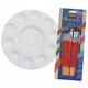 Paint Palette and Brush Assortment Package